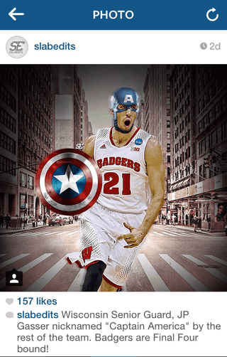 JP Gasser with Captain America mask and shield